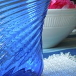 Detail Mexican Blue Glass