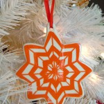 Painted Chevron Ornament