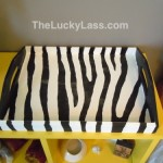 Zebra stripe tray