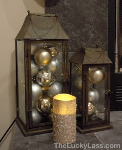 Lanterns Filled with Ornaments