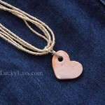 Detail Ceramic Heart Pendant