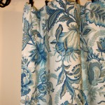 Detail close up of fabric, Wicklow Indigo by Better Homes and Gardens