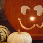Detail pumpkin tealight holder