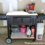 Grill Repurposed into Potting Bench